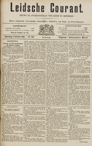 Leydse Courant 1885-10-03