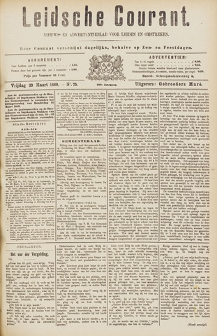 Leydse Courant 1889-03-29