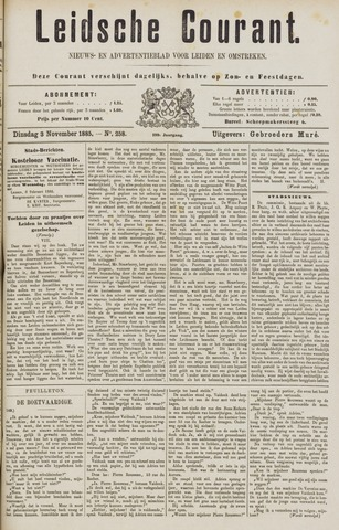 Leydse Courant 1885-11-03