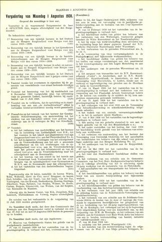 Handelingen van de Raad 1938-08-01