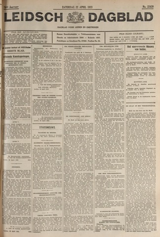 Leidsch Dagblad 1933-04-22