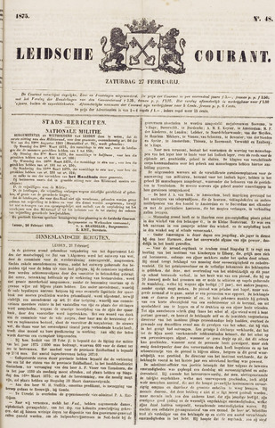 Leydse Courant 1875-02-27