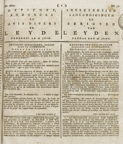 Leydse Courant 1812-06-26