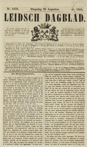Leidsch Dagblad 1863-08-25