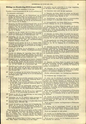 Handelingen van de Raad 1919-02-20