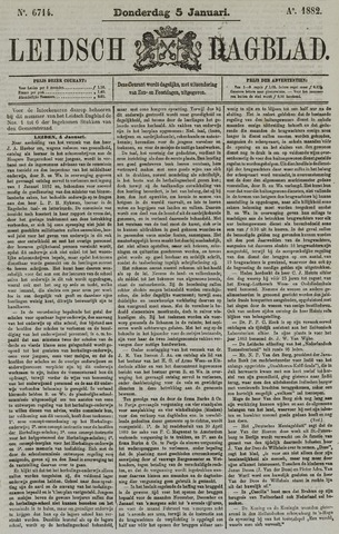 Leidsch Dagblad 1882-01-05