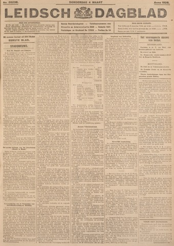 Leidsch Dagblad 1926-03-04