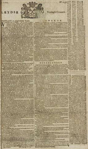 Leydse Courant 1771-11-01
