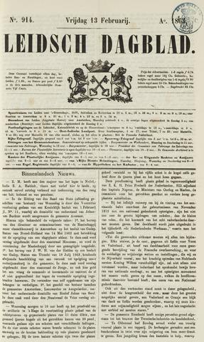 Leidsch Dagblad 1863-02-13