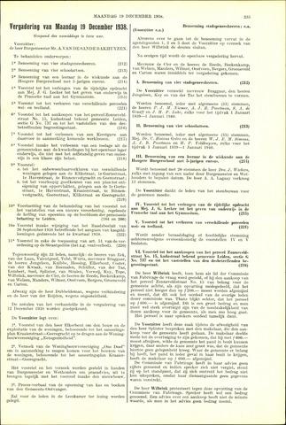 Handelingen van de Raad 1938-12-19