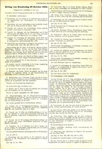 Handelingen van de Raad 1915-10-28