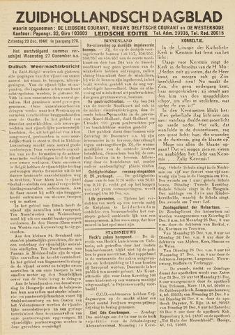 Zuidhollandsch Dagblad 1944-12-23