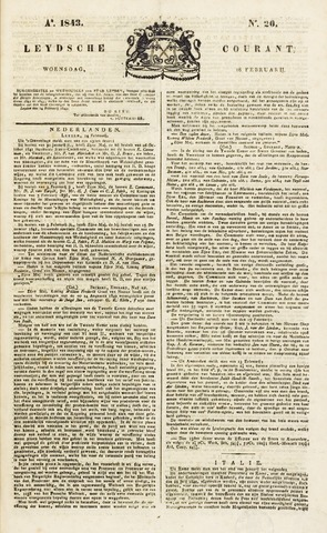 Leydse Courant 1843-02-15
