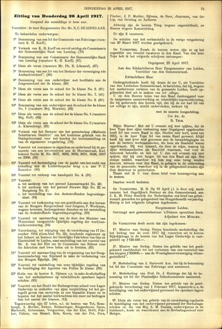 Handelingen van de Raad 1917-04-26