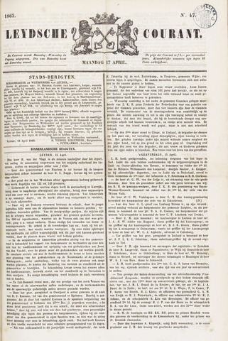 Leydse Courant 1865-04-17