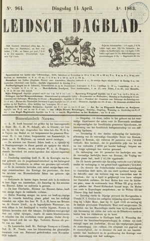 Leidsch Dagblad 1863-04-14