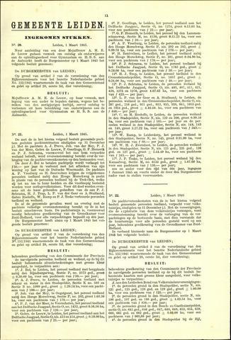 Handelingen van de Raad 1945-03-01