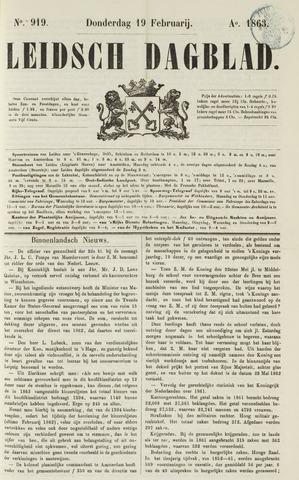 Leidsch Dagblad 1863-02-19