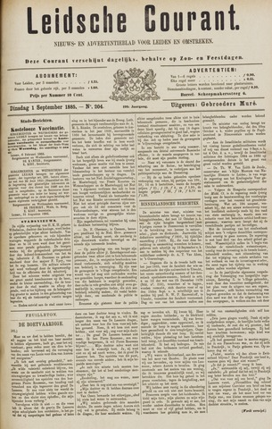 Leydse Courant 1885-09-01