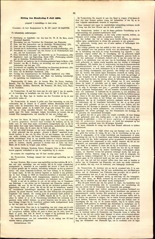 Handelingen van de Raad 1885-07-09