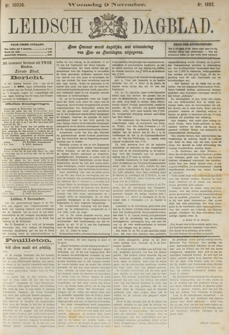 Leidsch Dagblad 1892-11-09