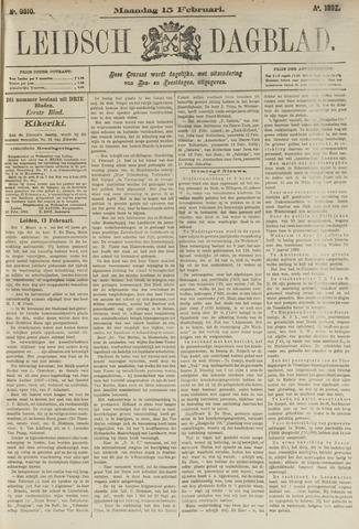 Leidsch Dagblad 1892-02-15