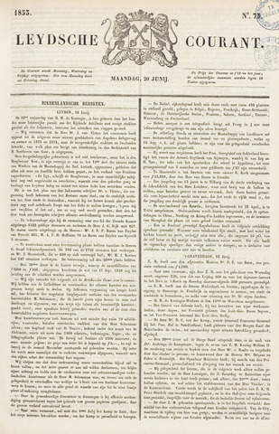 Leydse Courant 1853-06-20