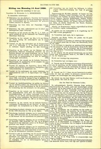 Handelingen van de Raad 1926-06-14