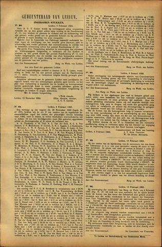 Handelingen van de Raad 1893-02-06