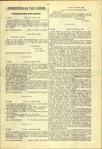 Handelingen van de Raad 1921-10-27