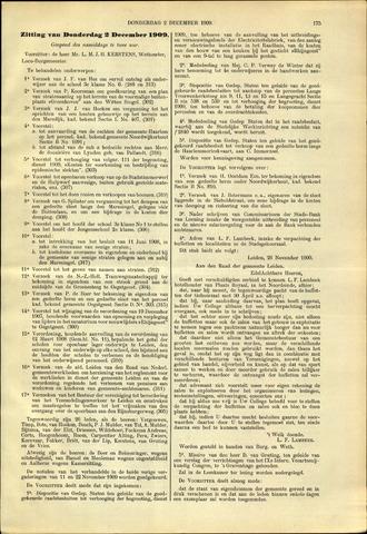 Handelingen van de Raad 1909-12-02