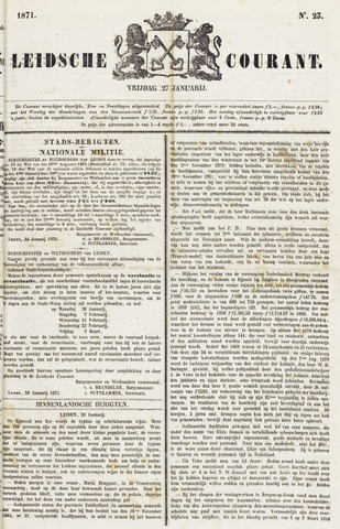 Leydse Courant 1871-01-27