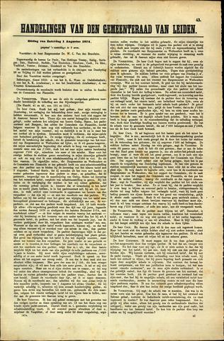 Handelingen van de Raad 1874-08-01