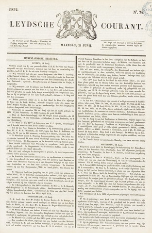 Leydse Courant 1852-06-21