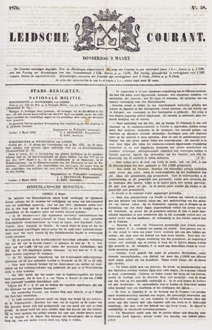 Leydse Courant 1876-03-09