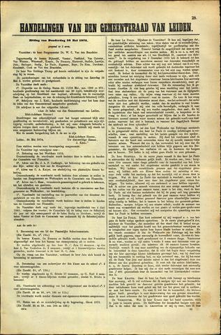 Handelingen van de Raad 1874-05-28
