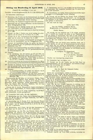Handelingen van de Raad 1912-04-11