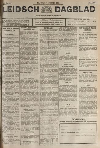Leidsch Dagblad 1933-08-07