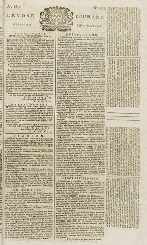 Leydse Courant 1819-11-10