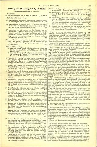 Handelingen van de Raad 1928-04-30