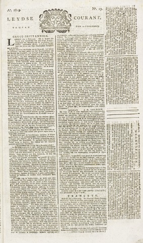 Leydse Courant 1819-02-12