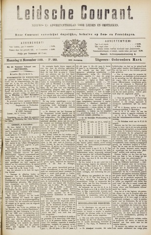 Leydse Courant 1889-11-11