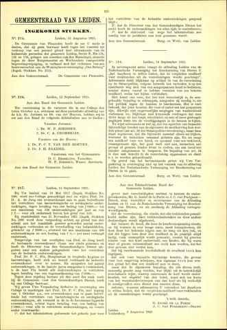 Handelingen van de Raad 1925-08-31