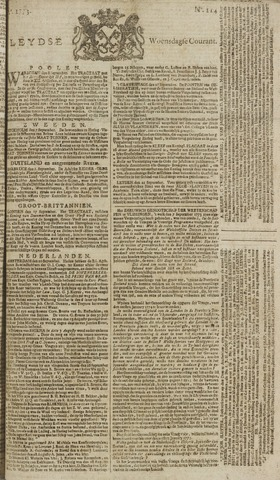 Leydse Courant 1773-09-22