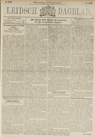 Leidsch Dagblad 1892-02-01