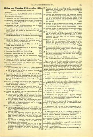 Handelingen van de Raad 1931-09-28