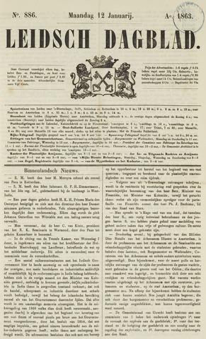 Leidsch Dagblad 1863-01-12