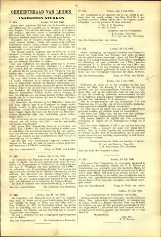 Handelingen van de Raad 1900-07-10