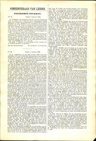 Handelingen van de Raad 1902-01-07