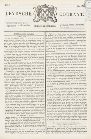 Leydse Courant 1852-11-12